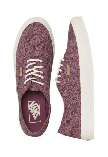 8eebbffcdb Vans - Authentic Slim Motif Floral Grape Juice Marshmallow - Girl Shoes -  Impericon.com UK