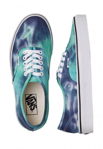 5ba72f303154 Vans - Authentic Tie Dye Navy Turquoise - Girl Shoes - Impericon.com UK