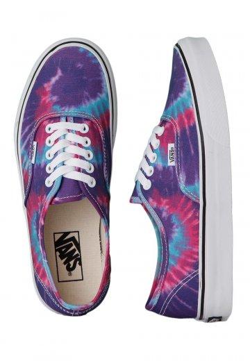 0149af786d Vans - Authentic Tie Dye Pink Purple - Girl Shoes - Impericon.com Worldwide