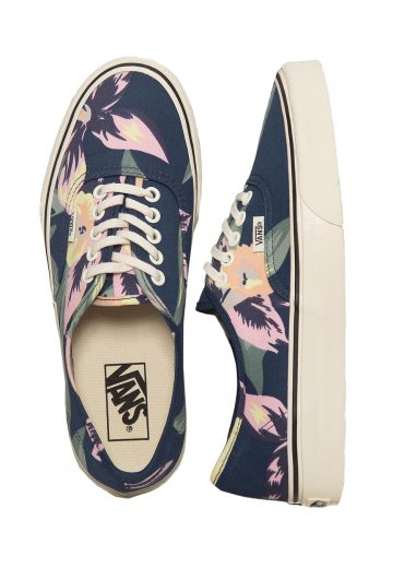 c634d72db3b410 Vans - Authentic Vintage Floral Navy Marshmallow - Girl Shoes -  Impericon.com UK