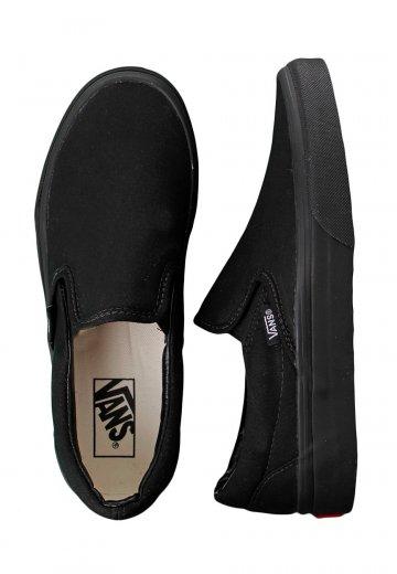 Vans - Classic Slip-On Black/Black - Girl Shoes