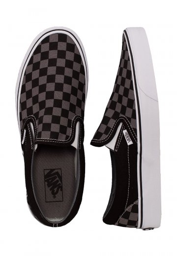 Vans - Classic Slip-On Black/Pewter Checkerboard - Shoes