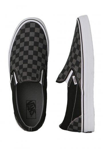3fe393a045d Vans - Classic Slip-On Black Pewter Checkerboard - Shoes - Impericon.com UK