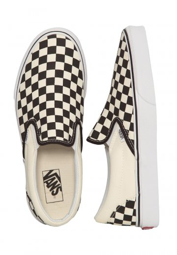 Vans - Classic Slip-On Black/White Checkerboard - Shoes