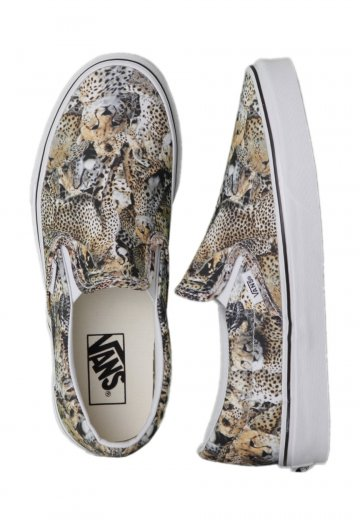 ba86e7136e Vans - Classic Slip-On Kenya Black True White - Girl Shoes - Impericon.com  UK