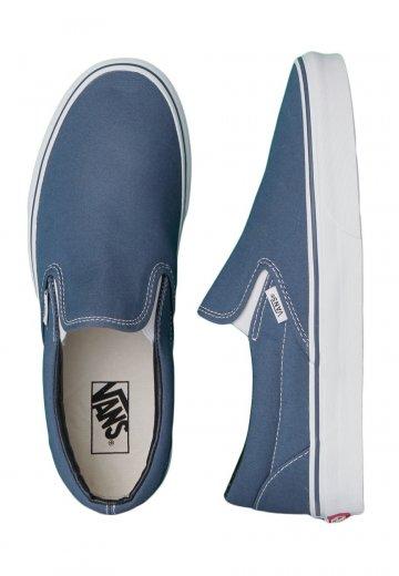 636d9111f10544 Vans - Classic Slip-On Navy - Shoes - Impericon.com UK
