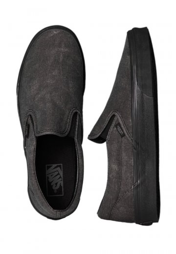 32b0ae3d328 Vans - Classic Slip-On Washed Black Black - Shoes - Impericon.com US