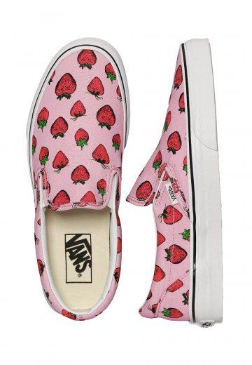 1376017bf240 Vans - Classic Slip-On Strawberries Pastel Lavender/True White - Girl Shoes  - Impericon.com UK