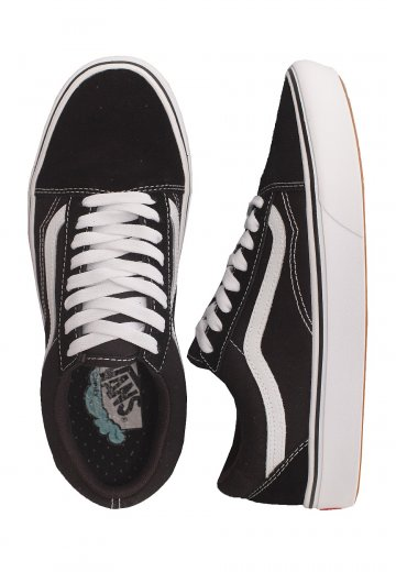 Vans ComfyCush Old Skool (Classic) BlackTrue White Girl Shoes