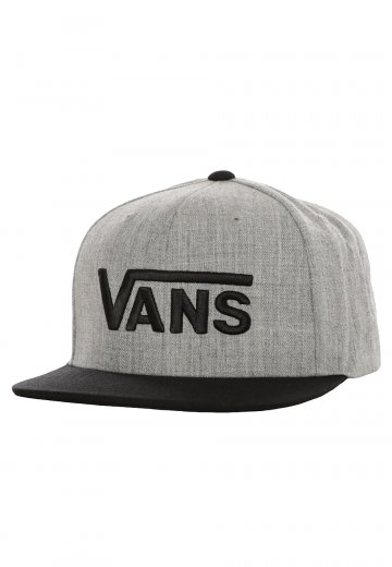 Vans - Drop V Heather Grey Black - Cap - Impericon.com Worldwide a962f63f9190