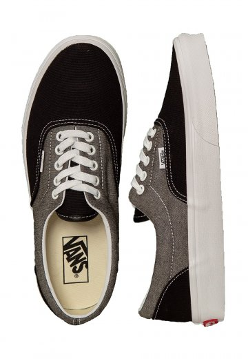 Vans - Era 59 Chambray Canvas Black/True White - Shoes
