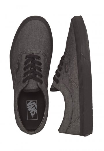 ae0624d93e Vans - Era Mono Chambray Black Black - Shoes - Impericon.com UK