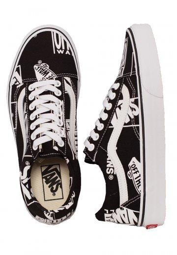 Vans - Old Skool Logo Mix Black/TRue White - Girl Shoes