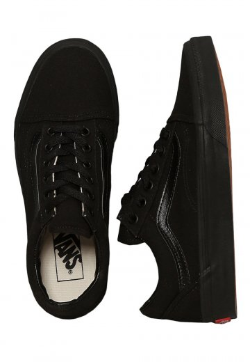 e1720bc87f Vans - Old Skool Black Black - Girl Shoes - Impericon.com US