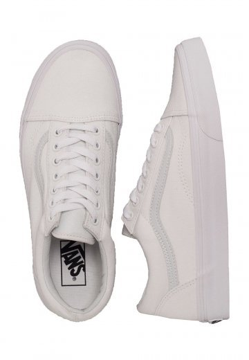 Vans - Old Skool Canvas/Synthetic True White - Girl Shoes