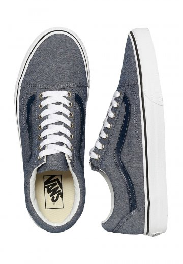 3b72e1fe8a7ca3 Vans - Old Skool C L Chambray Blue - Shoes - Impericon.com US