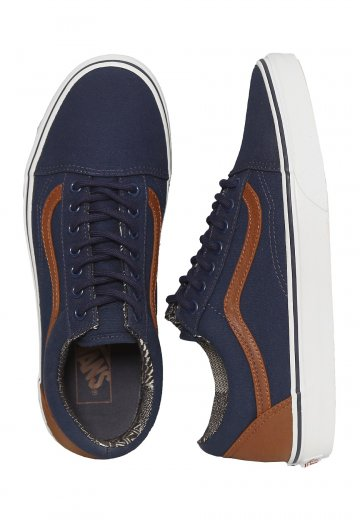 6bf84b6aafe3 Vans - Old Skool C L Dress Blues Material Mix - Shoes - Impericon.com UK