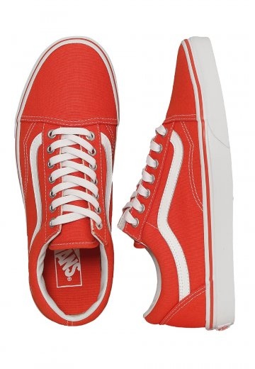 68bbbf4719 Vans - Old Skool Canvas Cherry Tomato True White - Shoes - Impericon.com  Worldwide