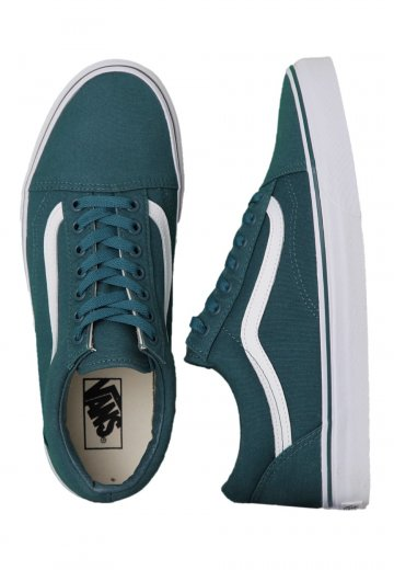 7801e38f539 Vans - Old Skool Canvas Deep Teal True White - Girl Shoes - Impericon.com UK