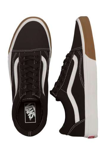 c16056db72138a Vans - Old Skool Gum Bumper Black True White - Shoes - Impericon.com AU