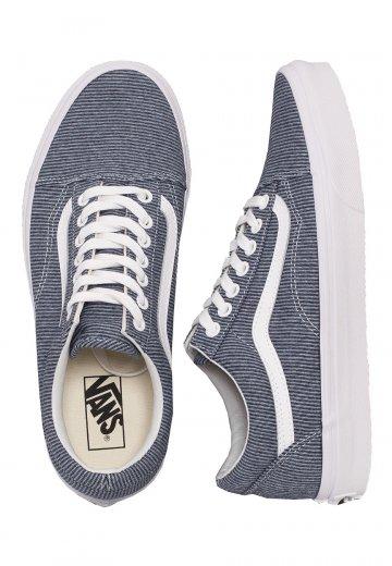 Vans - Old Skool Jersey Blue/True White - Girl Shoes