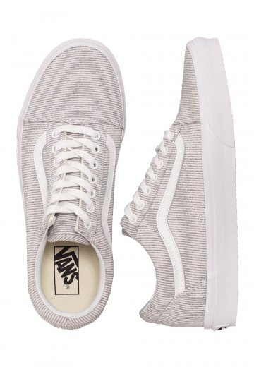 large discount reputable site classic fit Vans - Old Skool Jersey Gray/True white - Girl Shoes