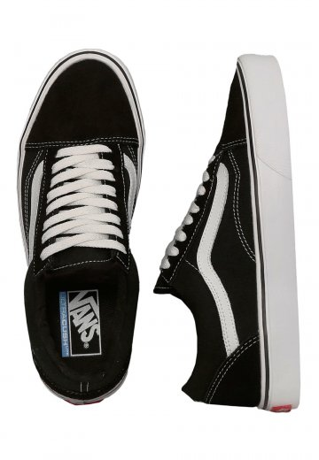 180a2059249629 Vans - Old Skool Lite Suede Canvas Black White - Shoes - Impericon.com UK