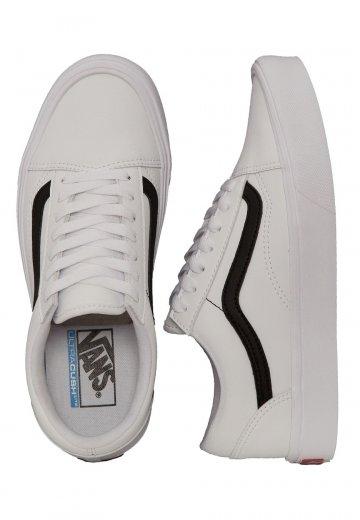 Vans Old Skool Lite Classic Tumble True WhiteBlack Girl Shoes