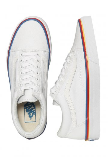 Vans - Old Skool Rainbow Foxing True White - Girl Schuhe - Impericon ... 1de94997ce