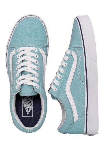 198fc0296807 Vans - Old Skool Washed Canvas Blue Radiance Crown Blue - Girl Shoes -  Impericon.com UK