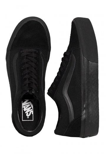 Vans - Old Skool Platform Black/Black - Girl Shoes
