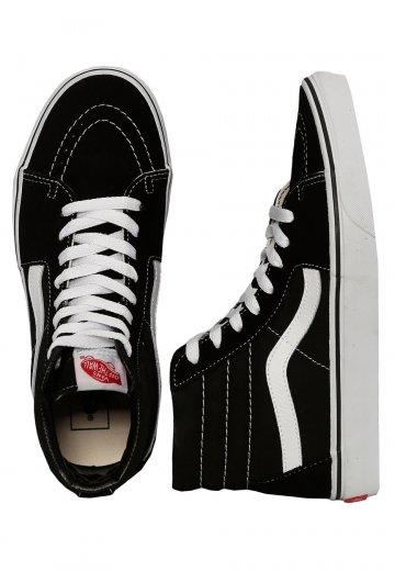 1f1fcec9bc84 Vans - Sk8-Hi Black Black White - Girl Shoes - Impericon.com UK