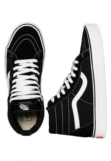 b755f71a25 Vans - Sk8-Hi Lite + Suede Canvas Black White - Shoes - Impericon.com UK