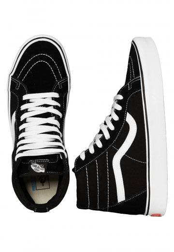 4bf44700c6b Vans - Sk8-Hi Lite + Suede Canvas Black White - Girl Shoes - Impericon.com  UK