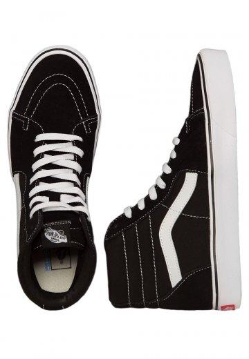c5b937e106 Vans - Sk8‐Hi Lite Suede Canvas Black White - Shoes - Impericon.com UK