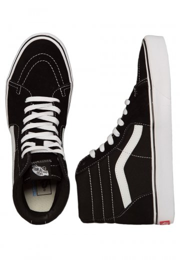 uitchecken knap elegante schoenen Vans - Sk8‐Hi Lite Suede/Canvas Black/White - Girl Shoes