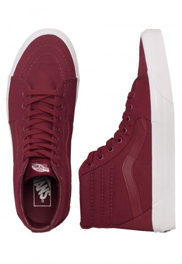 d226c40676 Vans - SK8-Hi Mono Canvas Cabernet - Shoes - Impericon.com AU