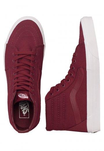 08630cf30e10 Vans - SK8-Hi Mono Canvas Cabernet - Girl Shoes - Impericon.com UK