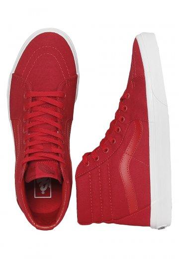 090ae2c09a1 Vans - Sk8-Hi Mono Canvas Chili Pepper True White - Shoes - Impericon.com UK