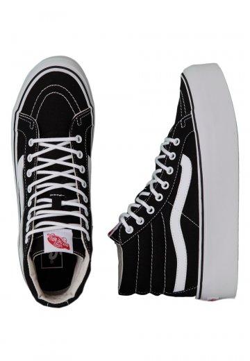 35eea79aad Vans - Sk8-Hi Platform Canvas Black True - Girl Shoes - Impericon.com  Worldwide