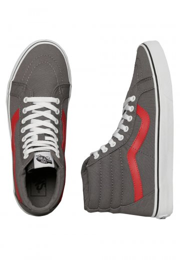 dbf120359f Vans - Sk8-Hi Reissue Canvas Tornado/Racing Red - Girl Shoes