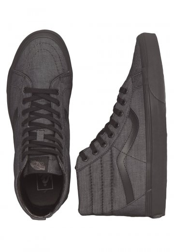 aeb0d25def Vans - SK8‐Hi Reissue Mono Chambray Black Black - Shoes - Impericon.com US