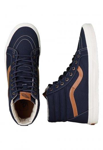 70927fc63ed7ce Vans - SK8-Hi Reissue Coated Canvas Dress Blue - Shoes - Impericon.com US