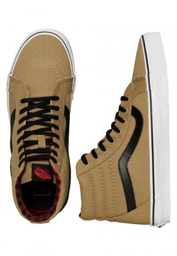 c814c1cfb6 Vans - Sk8-Hi Reissue Twill   Gingham Cornstalk Black - Shoes -  Impericon.com Worldwide