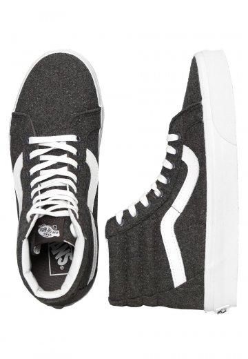 08fe36483785 Vans - Sk8-Hi Reissue Varsity Charcoal True White - Girl Shoes -  Impericon.com AU