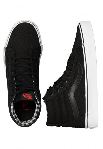 0e3f2a3aa2 Vans - Sk8-Hi Reissue Twill   Gingham Black True White - Shoes -  Impericon.com UK