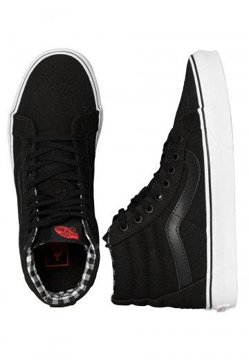 39186c411a3 Vans - Sk8-Hi Reissue Twill   Gingham Black True White - Shoes - Impericon.com  US
