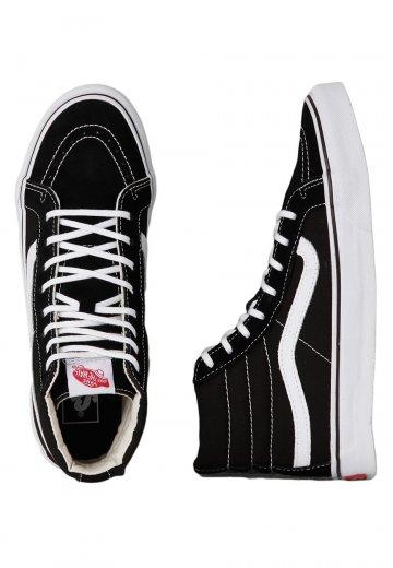 Vans - SK8-Hi Slim Frost Black True White - Girl Shoes - Impericon.com UK ad722391ffd6