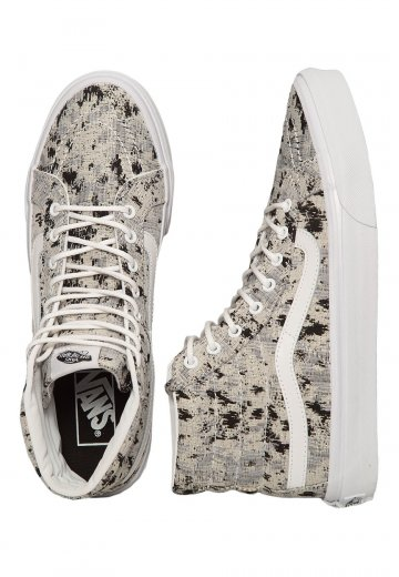 Vans - SK8‐Hi Slim Italian Weave Abstract True White - Női cipők ... 72f92e396b