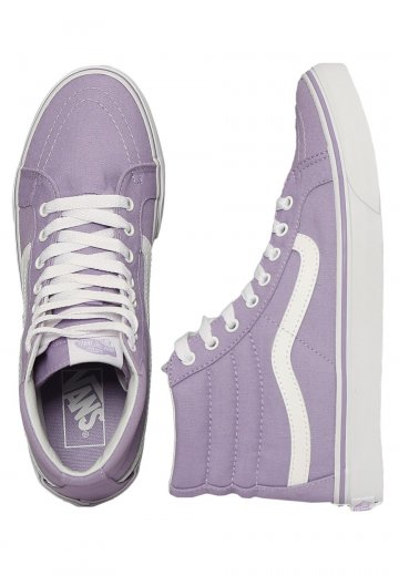 Vans - Sk8-Hi Slim LavenderTrue White - Girl Shoes - Impericon.com Worldwide 885dd07b9
